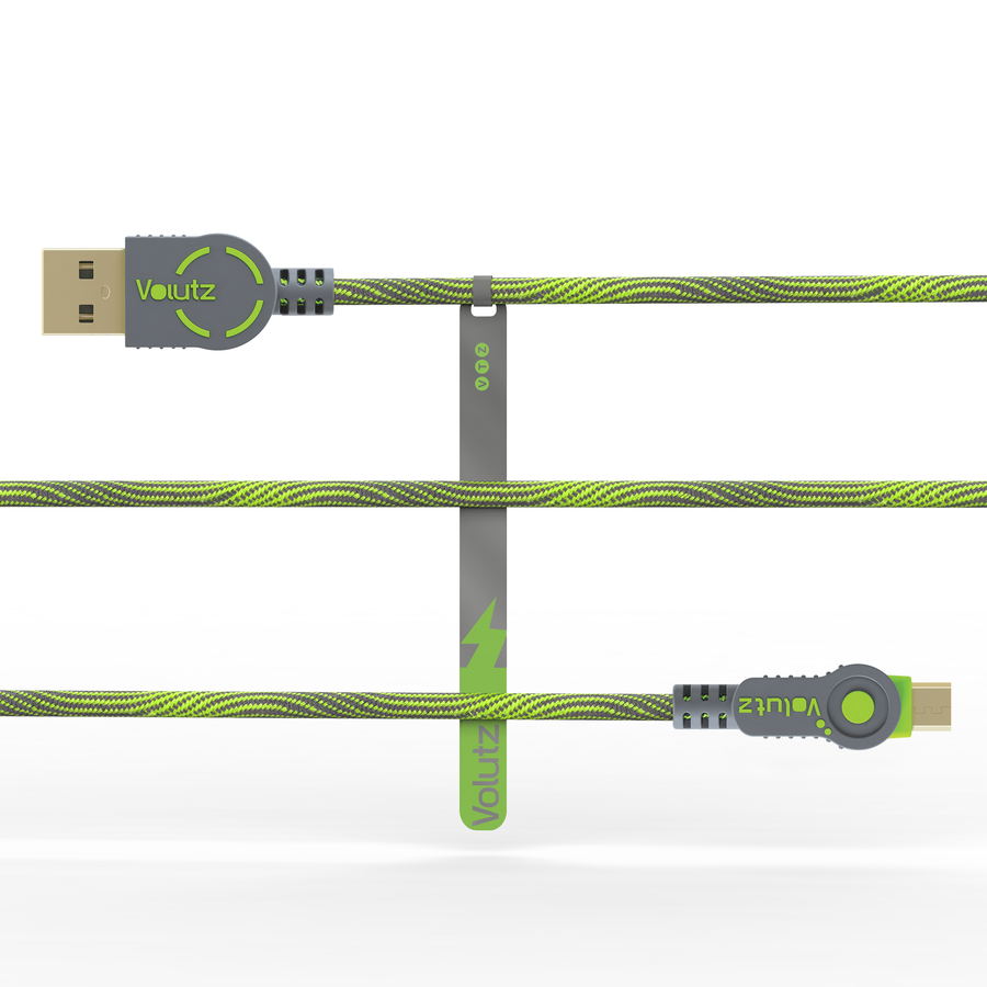 Micro USB to USB A Cable - Moss Green - Volutz