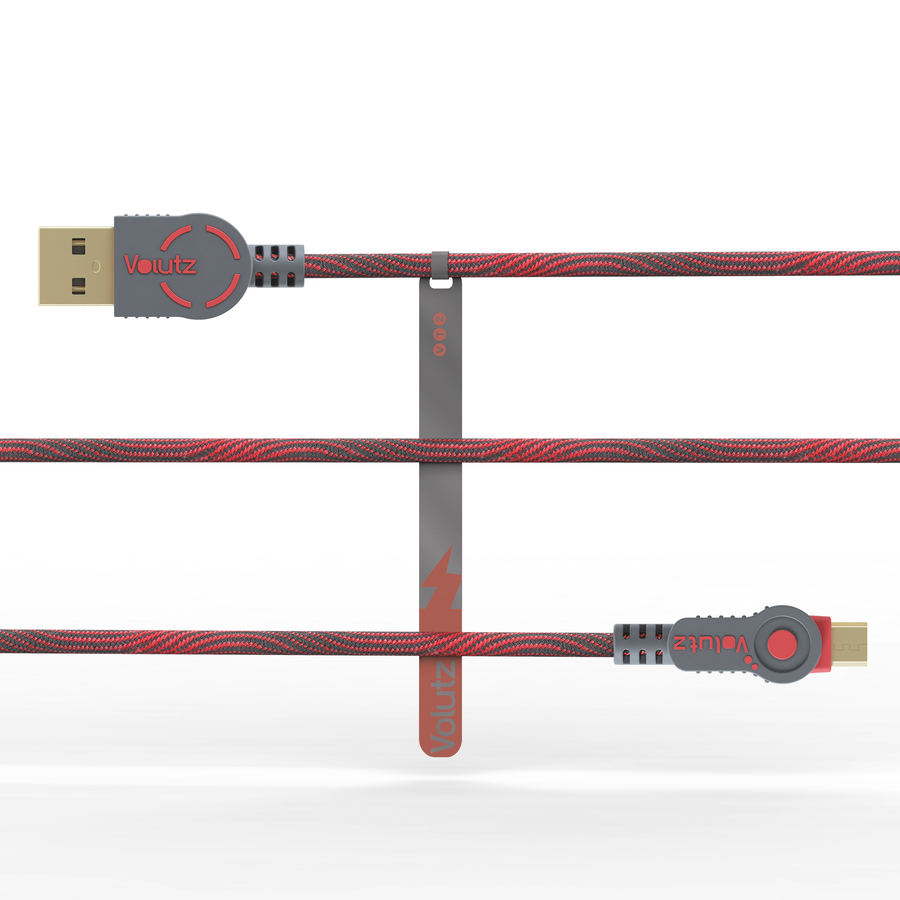 Micro USB to USB A - Ruby Red
