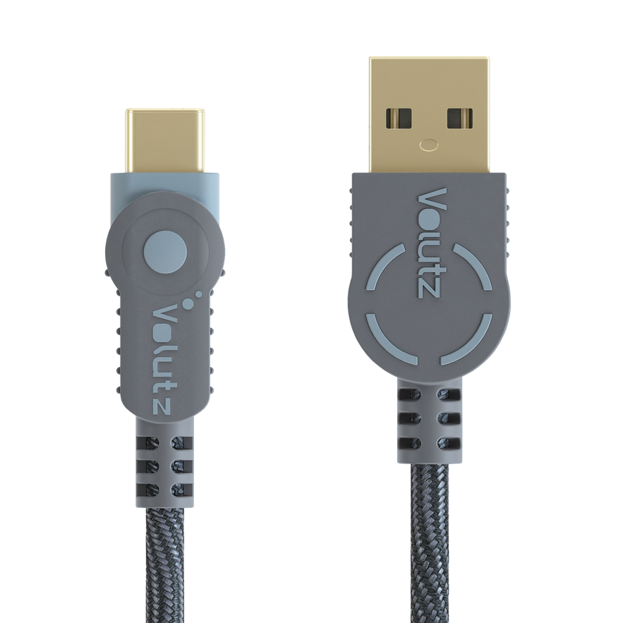 USB C to USB A 2.0 - Orchid Grey - Volutz