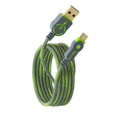 USB C to USB A 2.0 Cable - Moss Green - Volutz