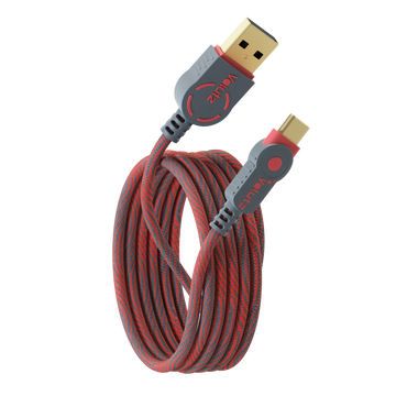USB C to USB A 2.0 Cable - Ruby Red - Volutz