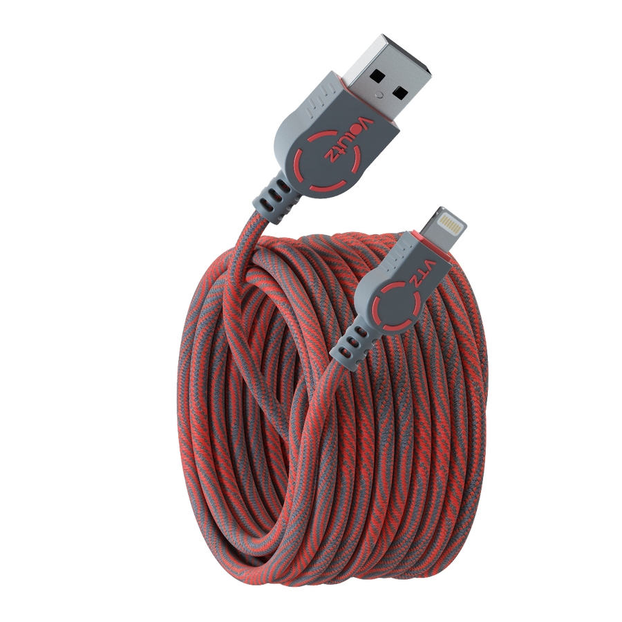 Lightning to USB A - Ruby Red - Volutz