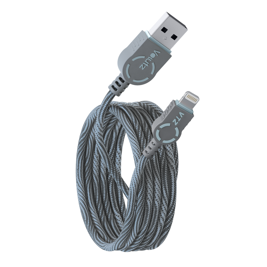 Lightning to USB A Cable - Orchid Grey - Volutz