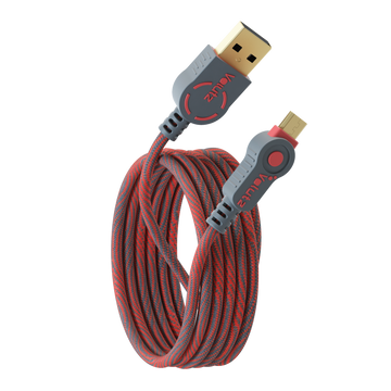 Micro USB till USB A - Ruby Red - Volutz