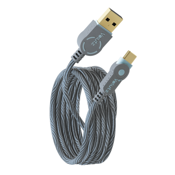 USB C to USB A 2.0 Cable - Orchid Grey - Volutz