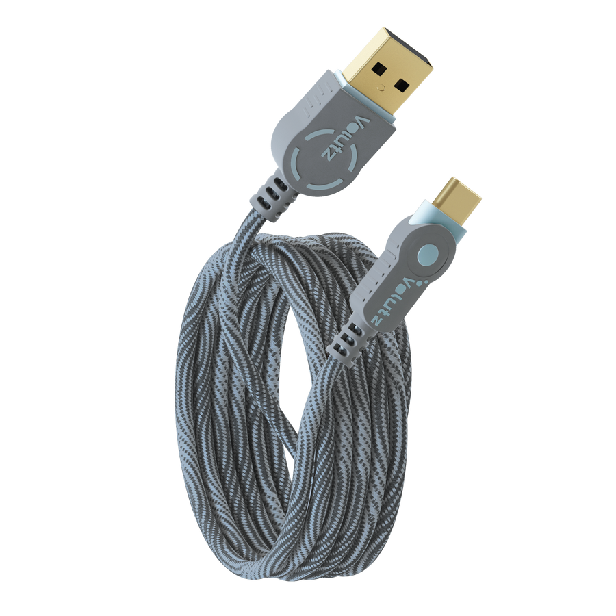 USB C to USB A 2.0 - Orchid Grey
