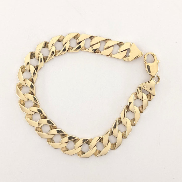 10K Yellow Gold Box Curb Link Bracelet