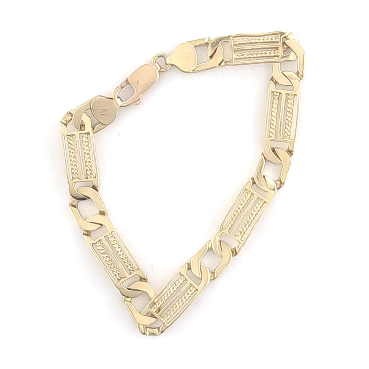 10K Yellow Gold Fancy Link Chain