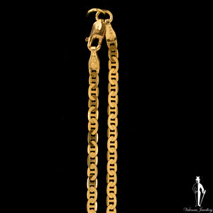 21 Inch 14K Yellow Gold Anchor Link Chain