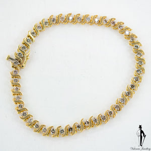 2.0 CT. (SI2-I2) Diamond Ladies Bracelet in 10K Yellow Gold