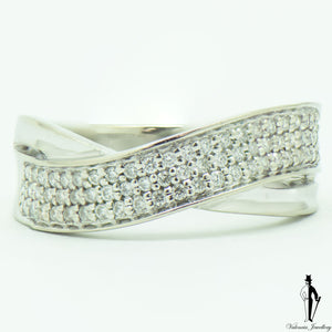 0.50 CT. (VS) Diamond Ladies Ring in 14K White Gold
