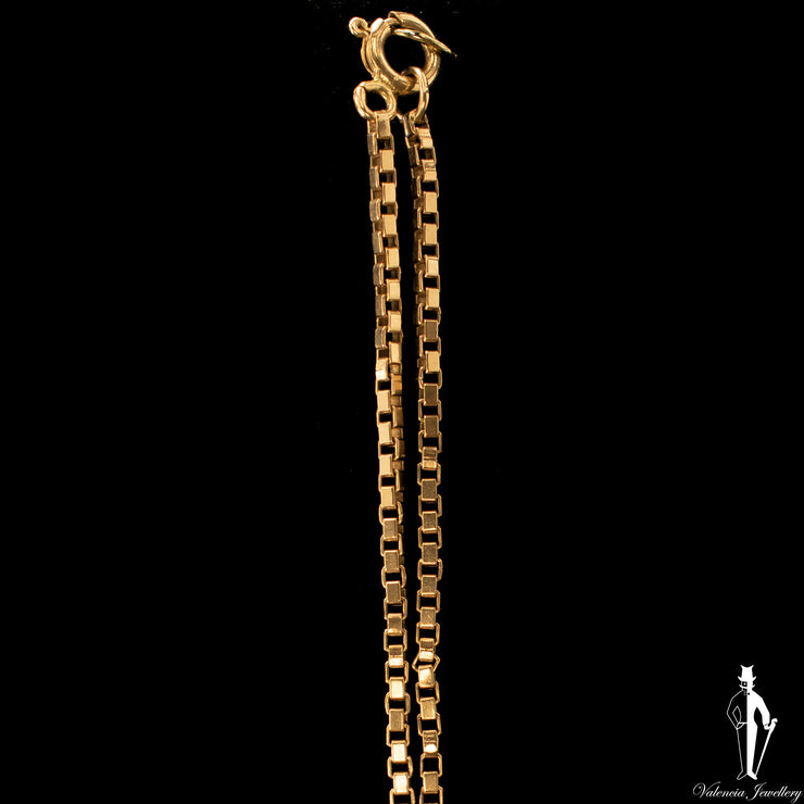 18 Inch 10K Yellow Gold Box Link Chain