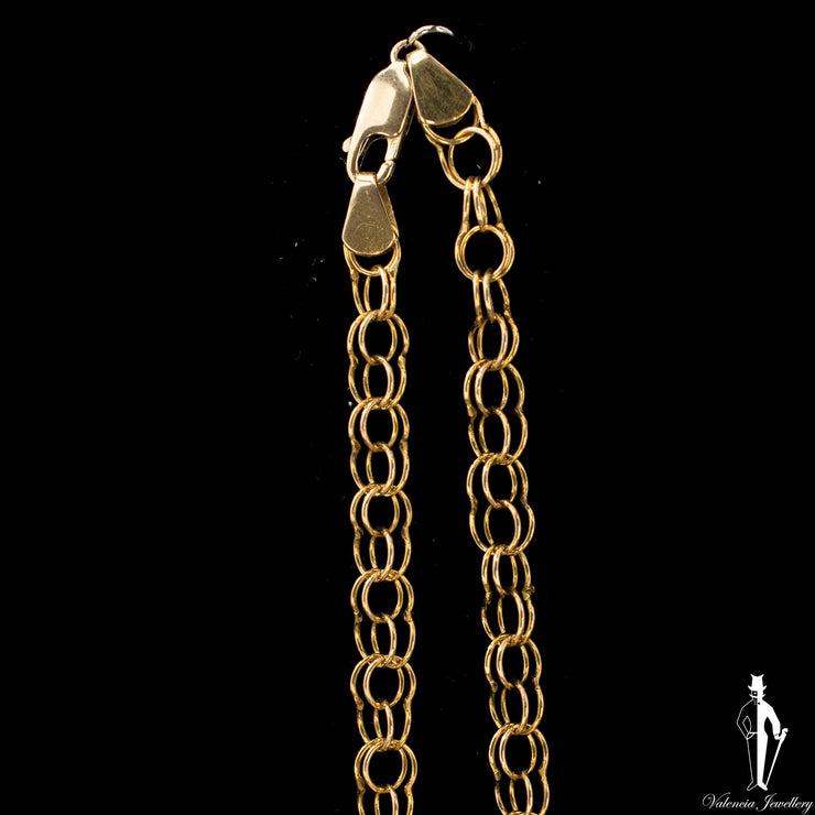 24 Inch 10K Yellow Gold Fancy Link Chain