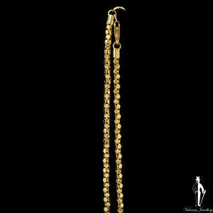 18 Inch 14K Yellow Gold Fancy Link Chain
