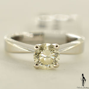 14K White Gold Diamond (0.75 CT.) Solitaire Engagement Ring