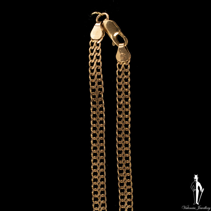 17 inch 10K Yellow Gold Fancy Link Chain