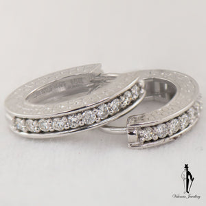 0.80 CT. (VVS-VS) Diamond Ladies Earrings in 18K White Gold