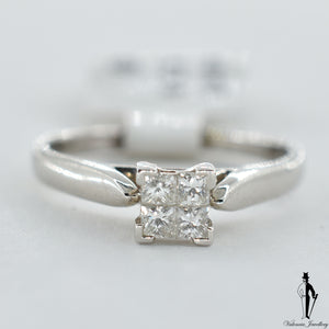 18K White Gold VS1 Diamond (0.40 CT.) Solitaire Engagement Ring