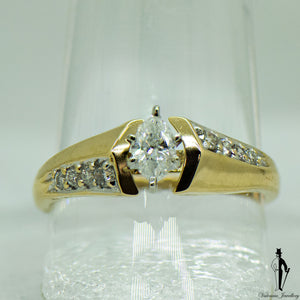 0.48 CT. (SI2-I1) Diamond Ring in 14K Yellow and White Gold