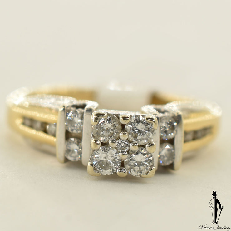 14K Yellow Gold SI2 Diamond (0.24 CT.) Channel Setting Engagement Ring