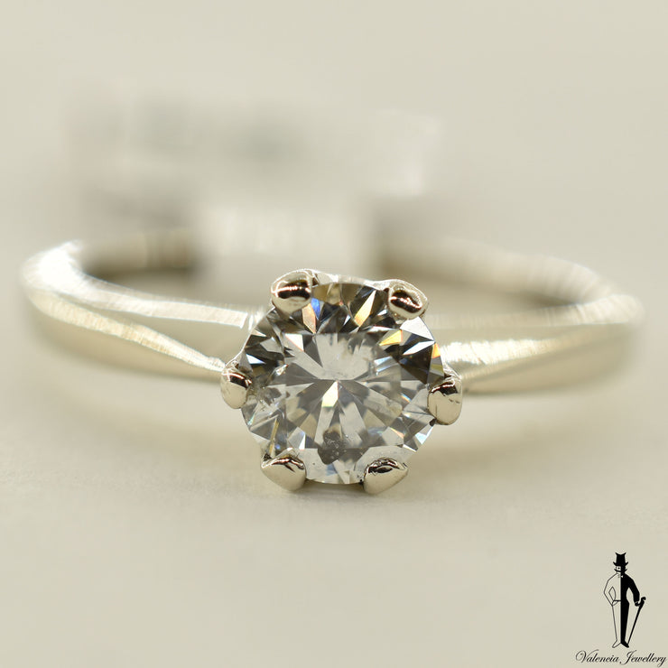 14K White Gold I1 Diamond (0.75 CT.) Solitaire Engagment Ring
