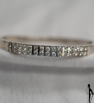 2.50 CT (VS) Diamond Bangle in 14K White Gold