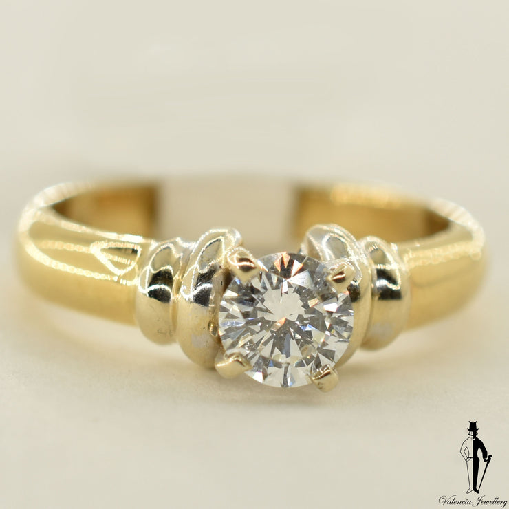 18K Yellow Gold SI2 Diamond (0.50 CT.) Solitaire Engagement Ring