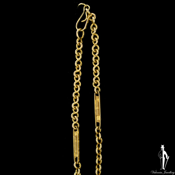 24 Inch 14K Yellow Gold Custom Cable Link