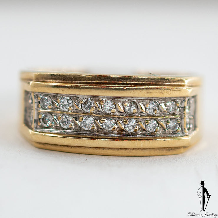 0.30 CT. (SI1-SI2) Diamond Ring in 10K Yellow and White Gold