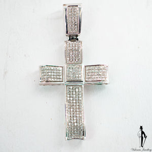 1.0 CT. (SI1-SI2) Diamond Cross Pendant in 10K White Gold