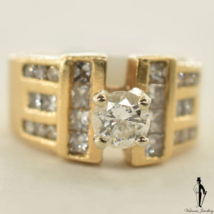 18K Yellow Gold I1 Diamond (0.51 CT.) Channel Setting Engagement Ring