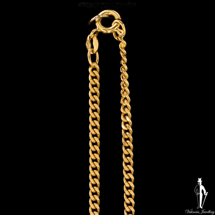 20 Inch 14K Yellow Gold Curb Link Chain