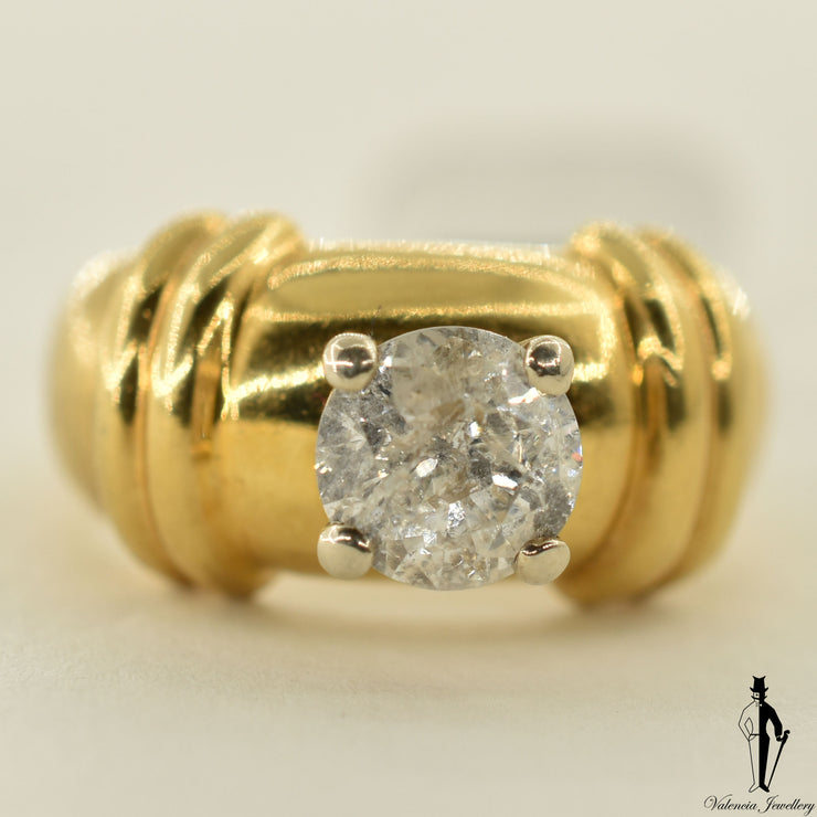 18K Yellow Gold I3 Diamond (1.1 CT.) Solitaire Engagement Ring