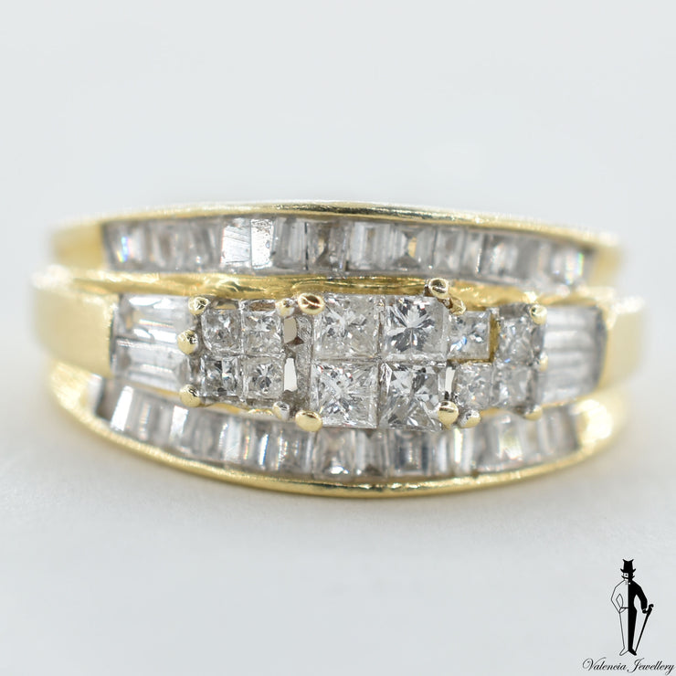 14K Yellow Gold SI-I2 Diamond (1.20 CT.) Fancy Ring