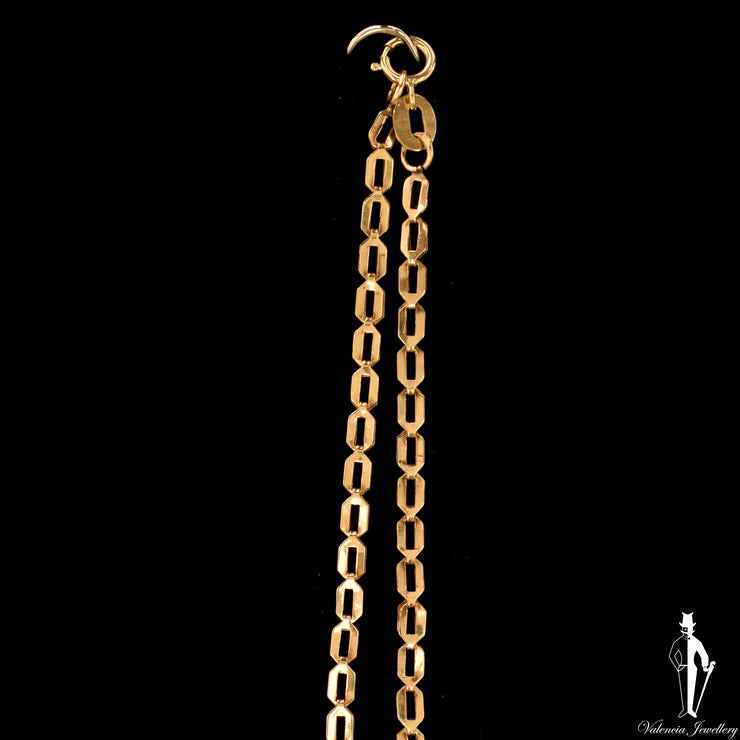 19 Inch 14K Yellow Gold Fancy Link Chain