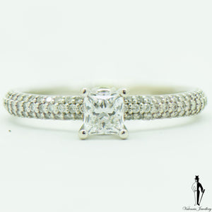 1.0 CT. (VS-SI1) Diamond Engagement Ring in 14K White Gold