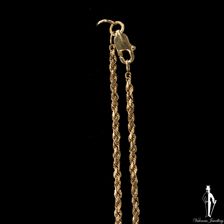 21 Inch 10K Yellow Gold Rope Chain