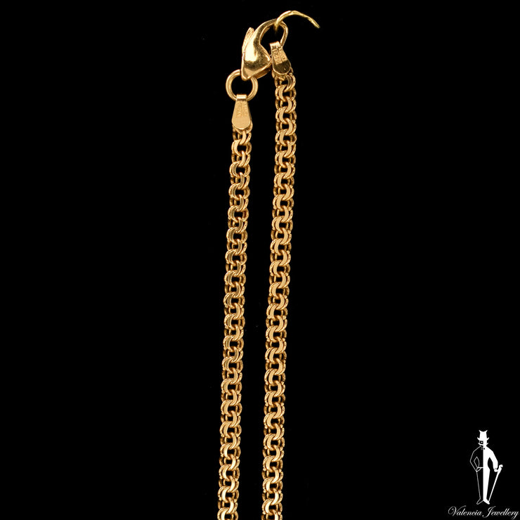 18 Inch 14K Yellow Gold Custom Link Chain