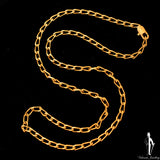 "23.5"" 18K Yellow Gold Curb Link Necklace"