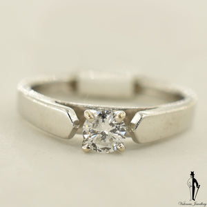 18K White Gold I1 Diamond (0.25 CT.) Solitaire Engagement Ring
