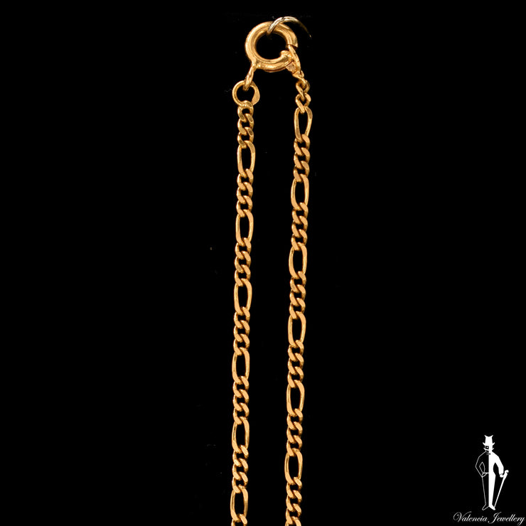 24 Inch 18K Yellow Gold Figaro Link Chain