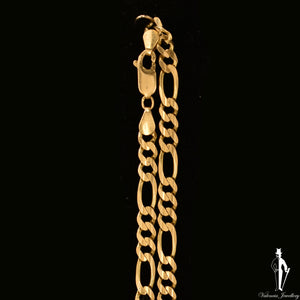 24 Inch 14K Yellow Gold Figaro Link Chain
