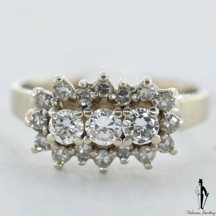 14K White Gold VS-SI Diamond (0.36 CT.) Cluster Style Ring