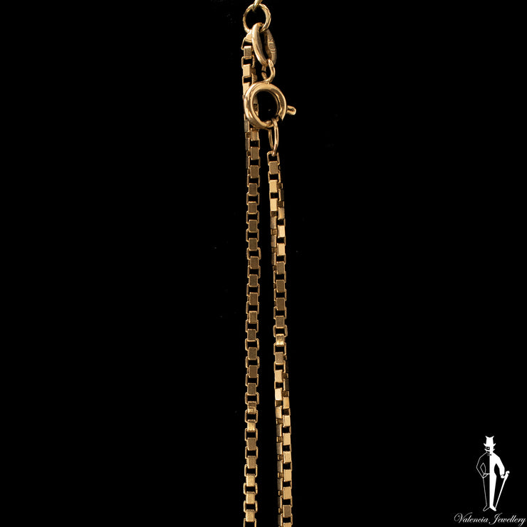 23 Inch 10K Yellow Gold Box Link Chain
