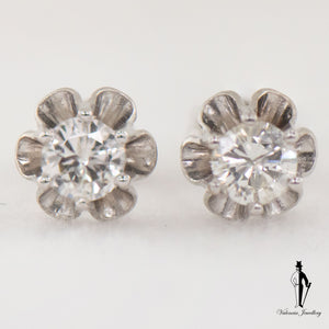 0.60 CT. (I1) Diamond Earrings in 14K White Gold