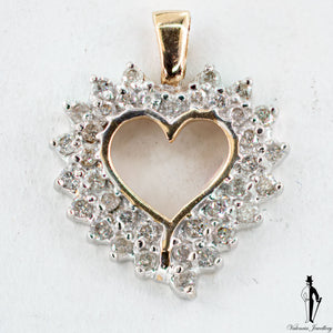 0.46 CT. (I2) Diamond Ladies Heart Pendant in 10K Yellow Gold