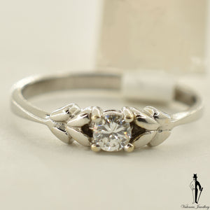18K White Gold I1 Diamond (0.18 CT.) Solitaire Engagement Ring