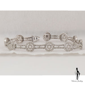 5.30 CT. (SI2-I1) Diamond Ladies Bracelet in 18K White Gold