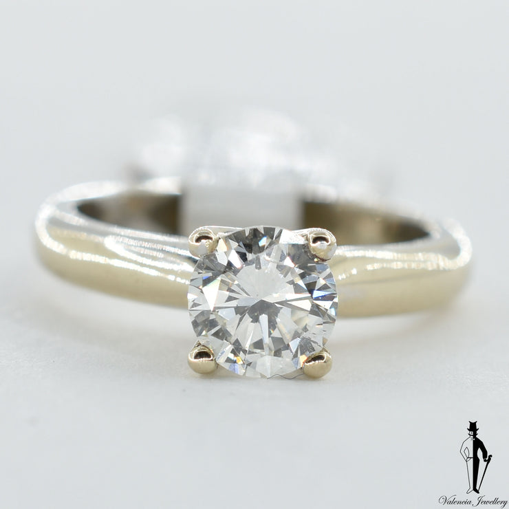 18K White Gold VS2 Diamond (1.06 CT.) Solitaire Engagement Ring