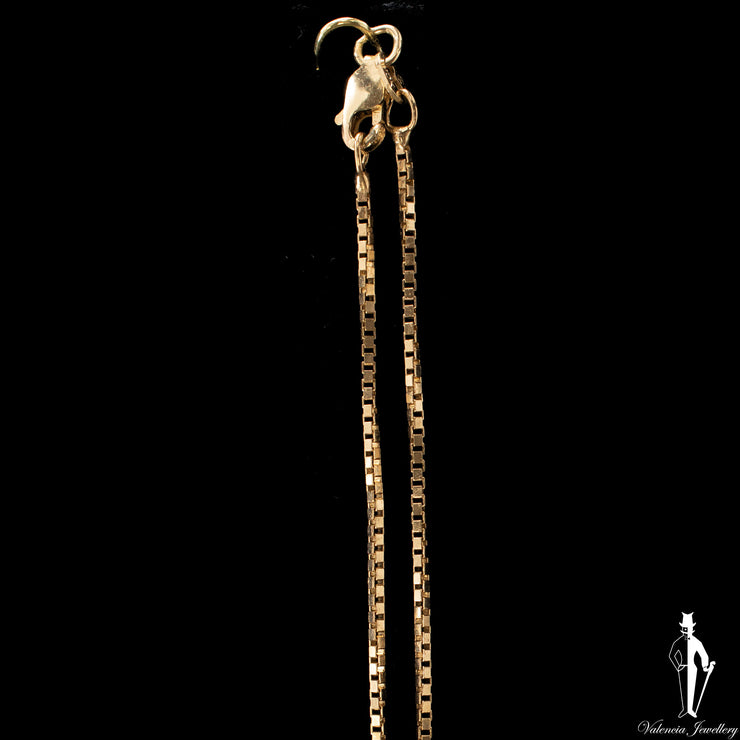 16 Inch 10K Yellow Gold Box Link Chain